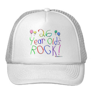 26 Year Olds Rock ! Mesh Hats