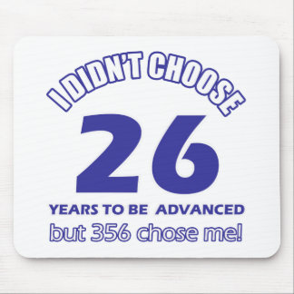 26 years advancement mouse pad