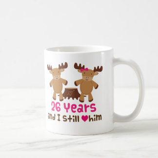 26th Anniversary Gift For Her Basic White Mug