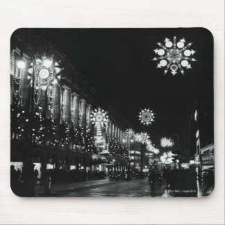 26th November 1960: City Christmas Lights Mouse Pad