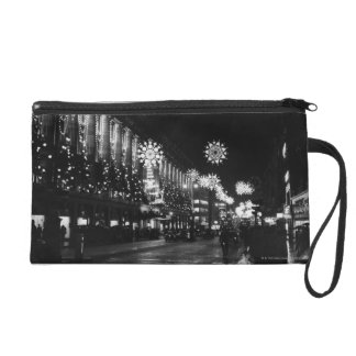 26th November 1960: City Christmas Lights Wristlet Purse