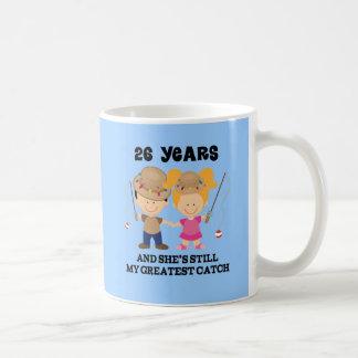 26th Wedding Anniversary Gift For Him Basic White Mug
