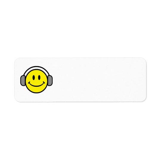2700-Royalty-Free-Emoticon-With-Headphones EMOTICO Return Address Label