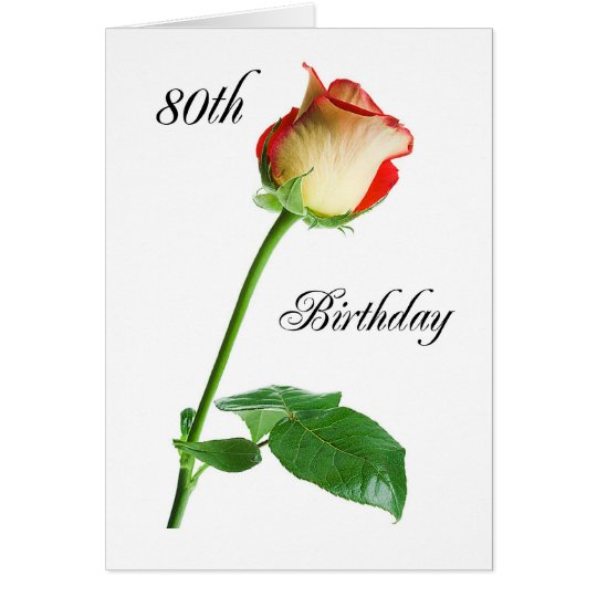 2720 Happy 80th Birthday Rose Card