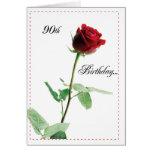 2722 Happy 90th Birthday Red Rose
