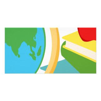 2727-Elementary-School-Design-Globe SCHOOL EDUCATI Photo Cards