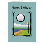 2729 Framed Golf Birthday Greeting Card