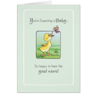2783 Duck Butterfly Good News Expecting Baby Greeting Card