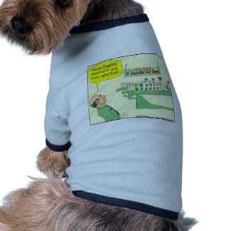 278 English Teacher Cartoon in color Dog Tshirt