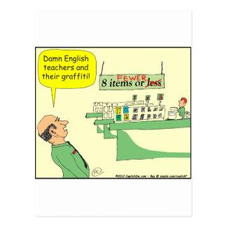 278 English Teacher Cartoon in color Postcard