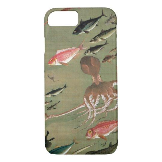 27. 諸魚図, 若冲 Various Fishes, Jakuchū, Japan Art iPhone 8/7 Case