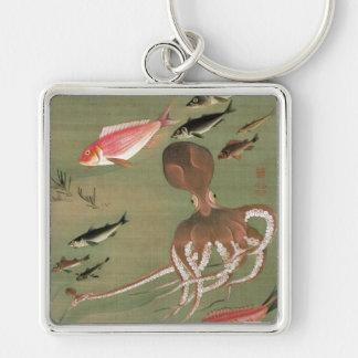 27. 諸魚図, 若冲 Various Fishes, Jakuchū, Japan Art Key Chains