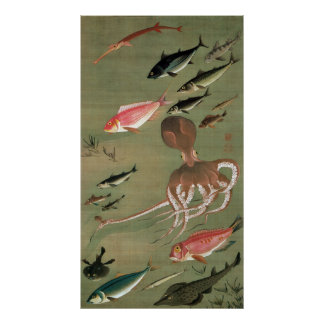 27. 諸魚図, 若冲 Various Fishes, Jakuchū, Japan Art Poster