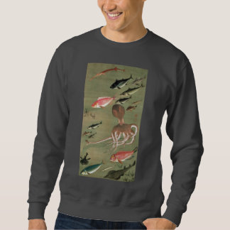 27. 諸魚図, 若冲 Various Fishes, Jakuchū, Japan Art Sweatshirt