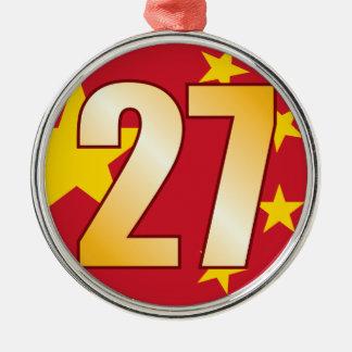 27 CHINA Gold Christmas Ornament