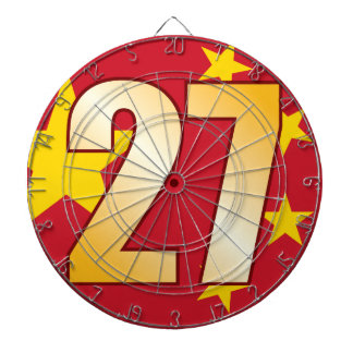 27 CHINA Gold Dartboard