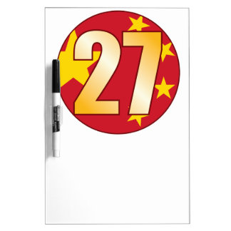 27 CHINA Gold Dry-Erase Board