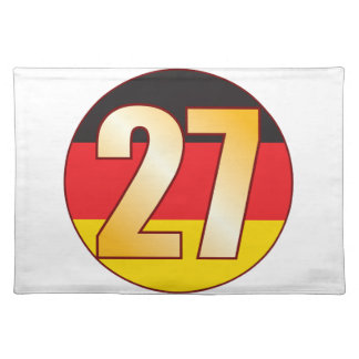 27 GERMANY Gold Placemat