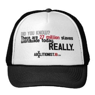 27 Million Slaves Worldwide Hats
