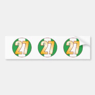 27 NIGERIA Gold Bumper Sticker