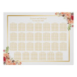 27 Tables Rustic Flowers Wedding Seating Chart