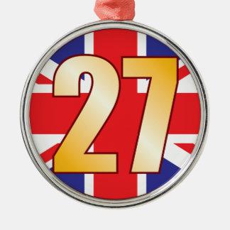 27 UK Gold Christmas Ornament