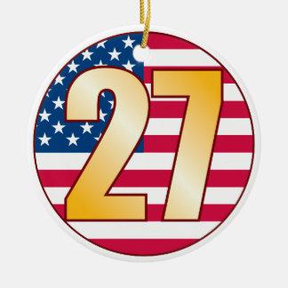 27 USA Gold Christmas Ornament