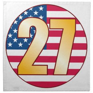 27 USA Gold Napkin