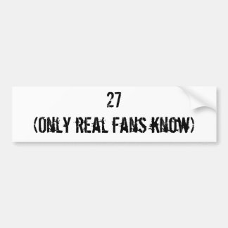 - 27 World Championships Bumper Sticker