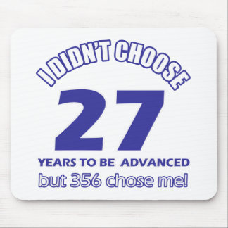 27 years advancement mouse pad