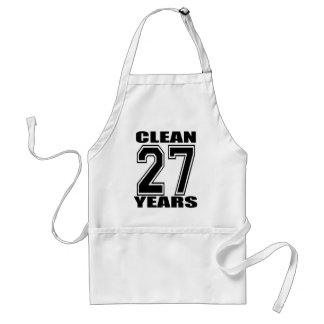 27 years sober adult apron