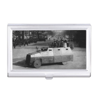 27th March 1917:  The armoured vehicle squadron Business Card Holder