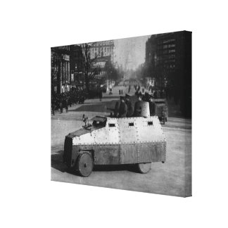 27th March 1917:  The armoured vehicle squadron Canvas Print