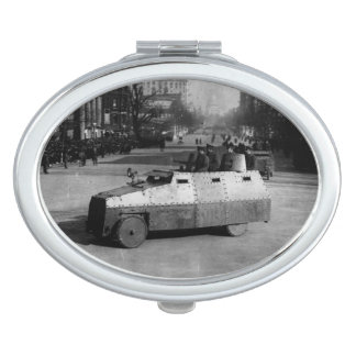 27th March 1917:  The armoured vehicle squadron Makeup Mirror