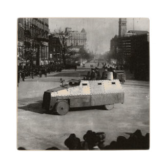 27th March 1917:  The armoured vehicle squadron Maple Wood Coaster