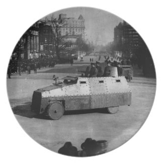 27th March 1917:  The armoured vehicle squadron Plate