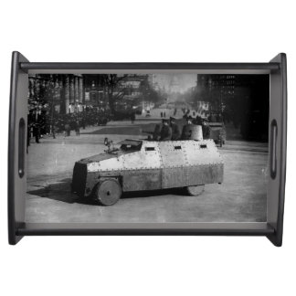 27th March 1917:  The armoured vehicle squadron Serving Tray