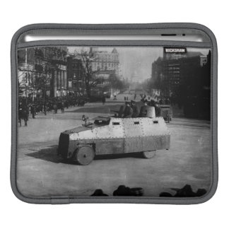 27th March 1917:  The armoured vehicle squadron Sleeve For iPads