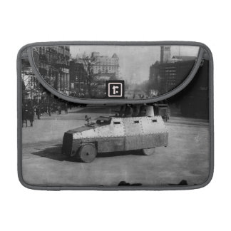 27th March 1917:  The armoured vehicle squadron Sleeves For MacBook Pro
