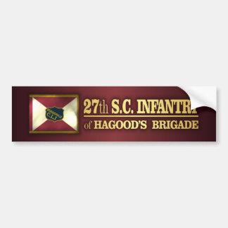 27th South Carolina Infantry (BA2) Bumper Sticker