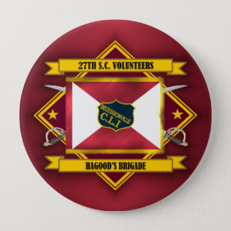 27th South Carolina Volunteer Infantry 10 Cm Round Badge
