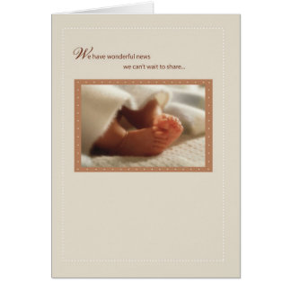 2814 Wonderful News Baby Feet Greeting Card