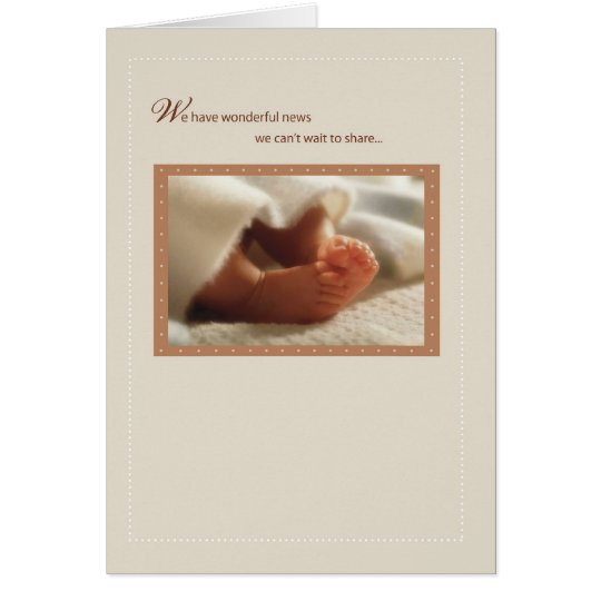 2814 Wonderful News Baby Feet Card
