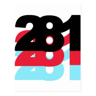 281 Area Code Postcard