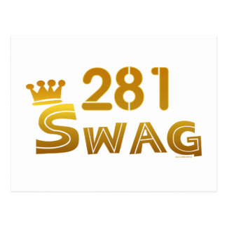 281 Texas Swag Postcard