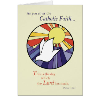 2823 Circle Dove Sun RCIA, Catholic Card