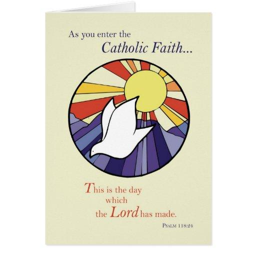 2823 Circle Dove Sun RCIA, Catholic Greeting Cards