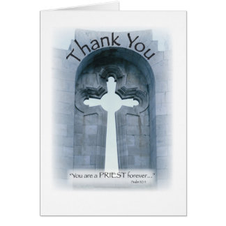 2826 Thank You Priest Cross Card