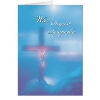 2845 Crucifix Blue Sympathy Card