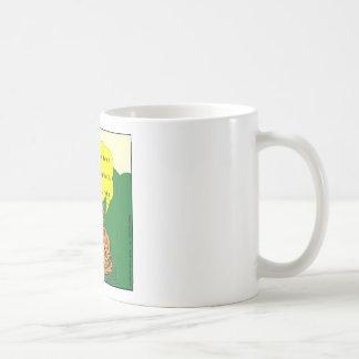 284 meditating cat cartoon basic white mug